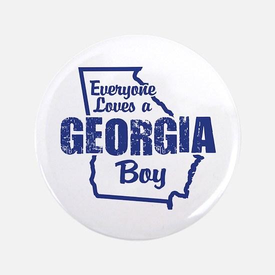 "Georgia Boy 3.5"" Button"