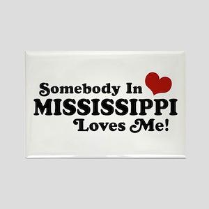 Somebody in Mississippi Loves Me Rectangle Magnet