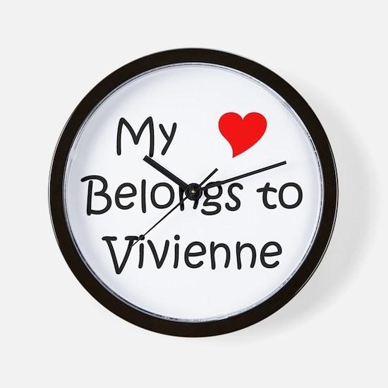 Cool Vivienne Wall Clock