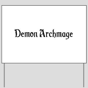 Demon Archmage Yard Sign