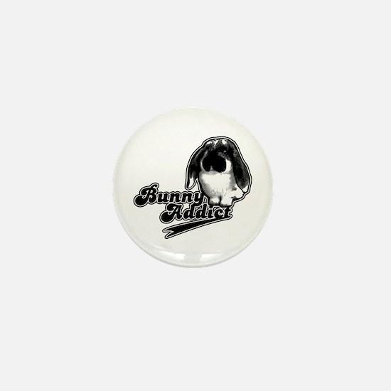 Bunny Addict Mini Button