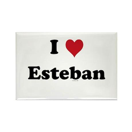 I love Esteban Rectangle Magnet