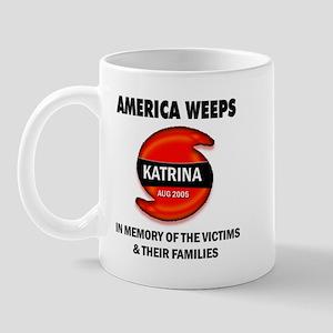 Hurricane Katrina America Weeps Mug