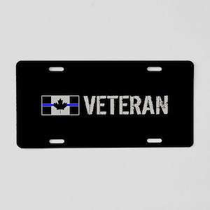 Canadian Police: Veteran Aluminum License Plate