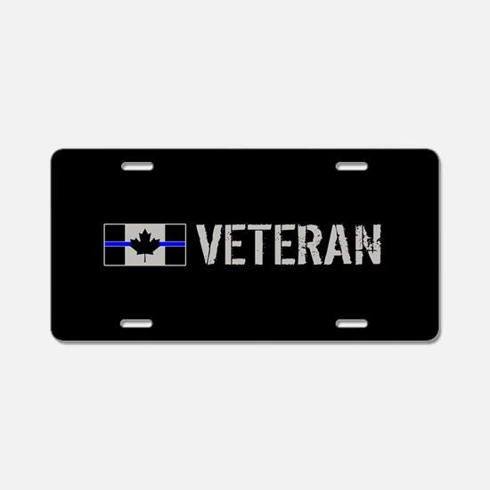 Canadian Police: Veteran Aluminum License Plate