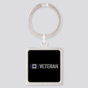 Canadian Police: Veteran Square Keychain