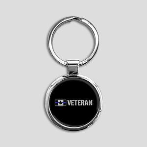 Canadian Police: Veteran Round Keychain