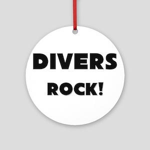 Divers ROCK Ornament (Round)