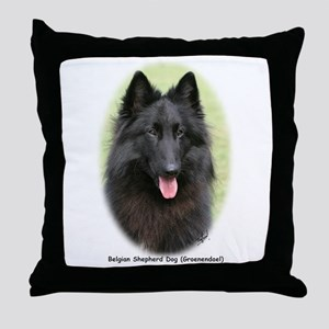 Belgian Shepherd (Groenendael) Throw Pillow