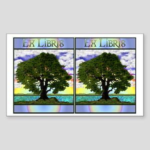 Old Oak Bookplate Rectangle Sticker