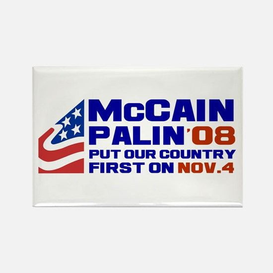 McCain Palin Nov. 4 Rectangle Magnet