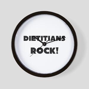 Dietitians ROCK Wall Clock