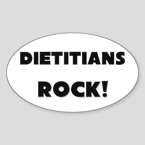 Dietitians ROCK Oval Sticker