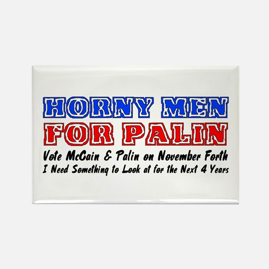 Horny men for Palin Rectangle Magnet