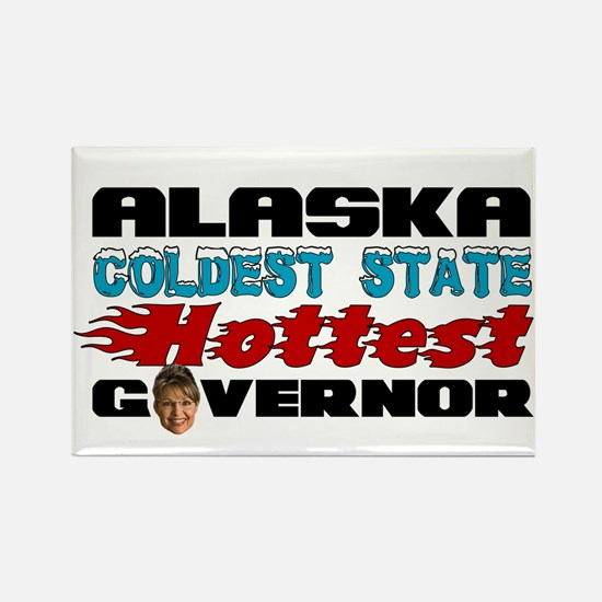 Palin Hottest Governor Rectangle Magnet