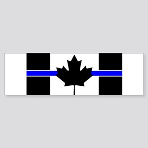 Canadian Police: Thin Blue Line Bumper Sticker