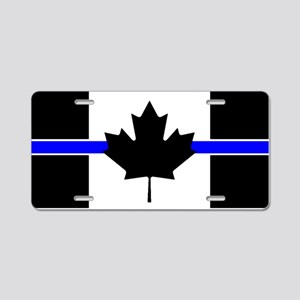 Canadian Police: Thin Blue Line Aluminum License P