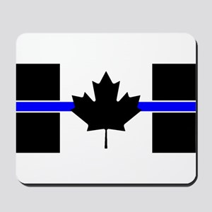 Canadian Police: Thin Blue Line Mousepad