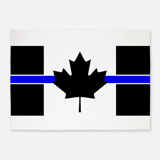 Canadian Police: Thin Blue Line 5'x7'Area Rug