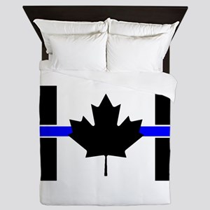 Canadian Police: Thin Blue Line Queen Duvet