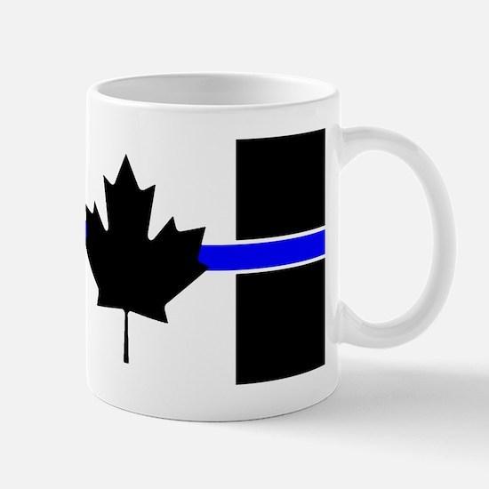 Canadian Police: Thin Blue Line Mugs