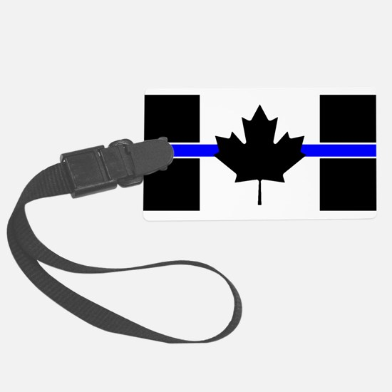 Canadian Police: Thin Blue Line Luggage Tag