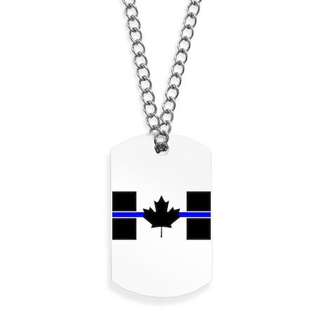 Canadian Police  Thin Blue Line Dog Tags fa41edba0a4