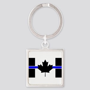 Canadian Police: Thin Blue Line Keychains