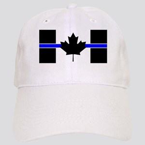 Canadian Police: Thin Blue Line Baseball Cap