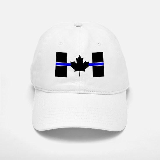 Canadian Police: Thin Blue Line Baseball Baseball Baseball Cap