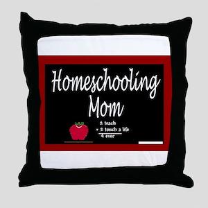 Homeschooling Mom Throw Pillow