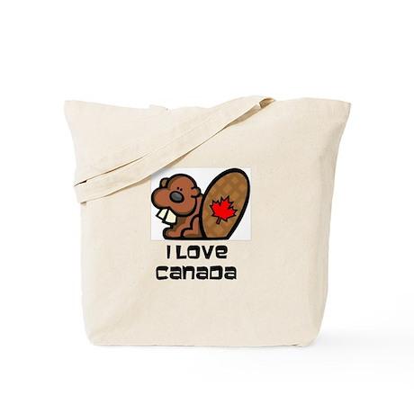 I Love Canada Beaver Tote Bag