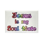 Jesus is my Soul Mate Rectangle Magnet