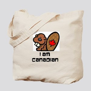 I am Canadian Beaver Tote Bag
