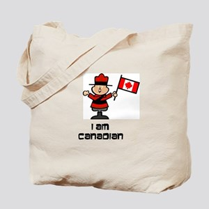 I am Canadian Mountie Tote Bag