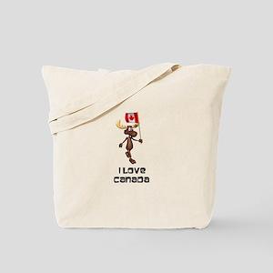 I Love Canada Moose Tote Bag