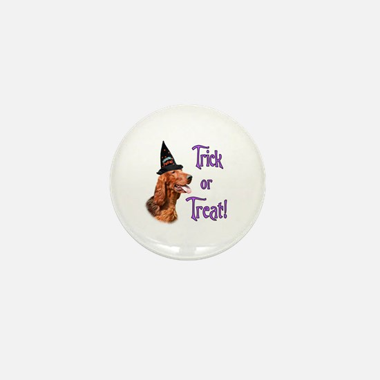 Irish Setter Trick Mini Button