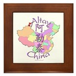Altay China Map Framed Tile