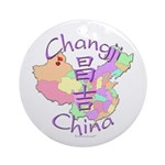 Changji China Map Ornament (Round)