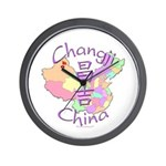 Changji China Map Wall Clock