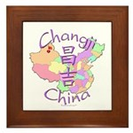 Changji China Map Framed Tile