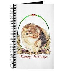 Pomeranian Pom Holiday Journal