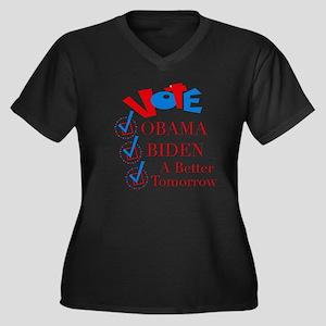 A Better Tomorrow Obama T-Shirt Women's Plus Size