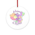 Hami China Map Ornament (Round)