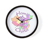 Hami China Map Wall Clock