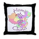 Hami China Map Throw Pillow