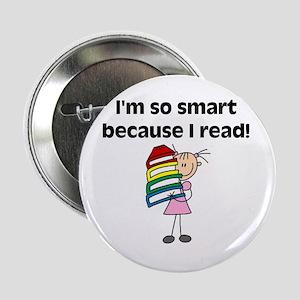 """Girl Smart Reader 2.25"""" Button"""