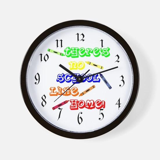 No School Like Home Wall Clock