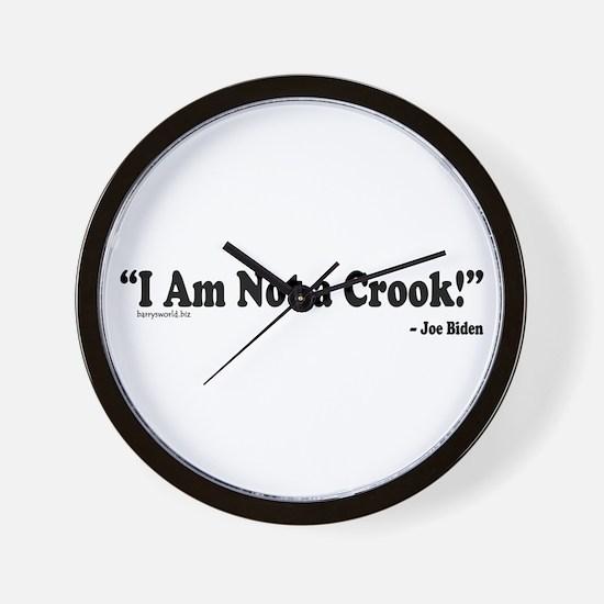 Not a Crook Wall Clock