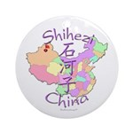 Shihezi China Map Ornament (Round)